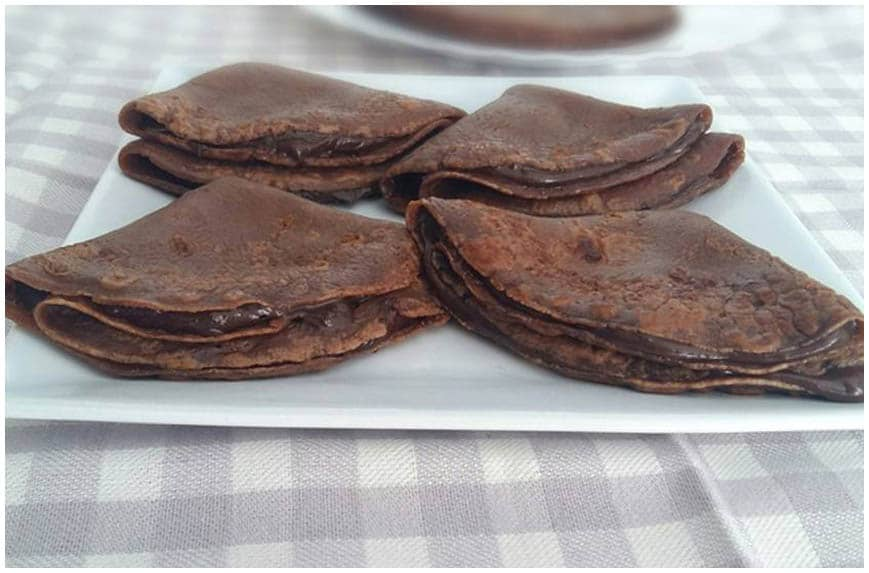Crepes doble chocolate