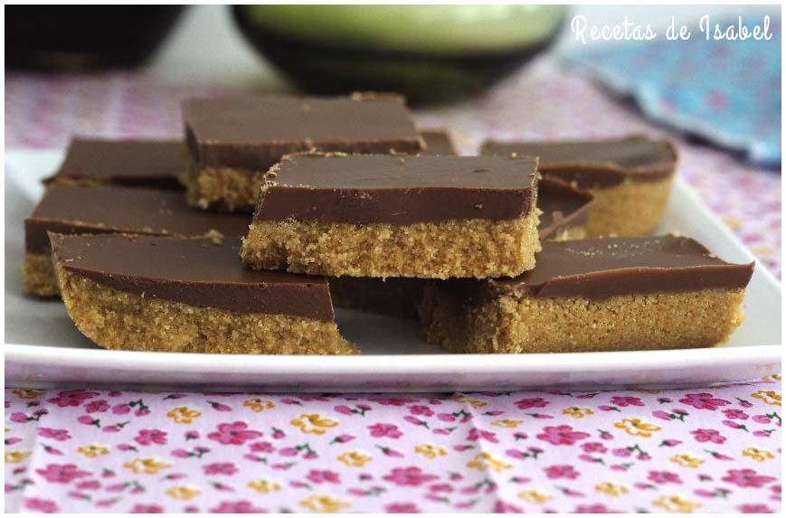 Pastelitos de chocolate y mantequilla de cacahuetes