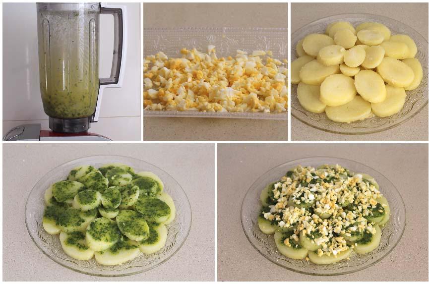 Ensalada de patatas con salsa verde