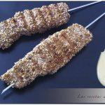 Brochetas de tataki de atún con mayonesa de soja