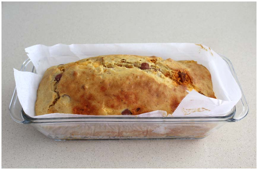 Cake Cheddar Chorizo Thermomix