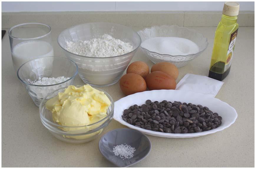 MAGDALENAS ESPONJOSAS RELLENAS DE CHOCOLATE ingredientes 860 X 573