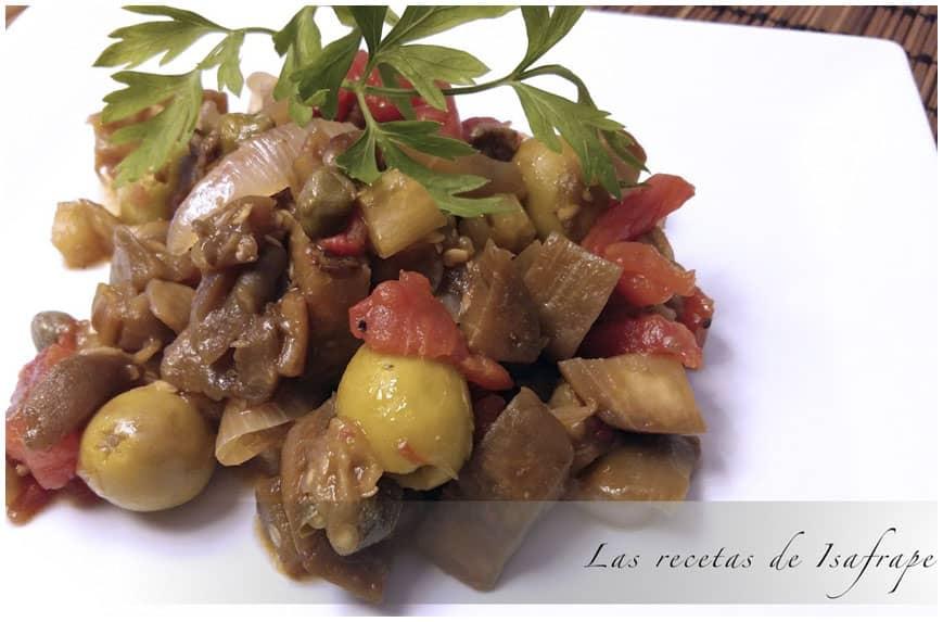 Caponata siciliana, receta clásica