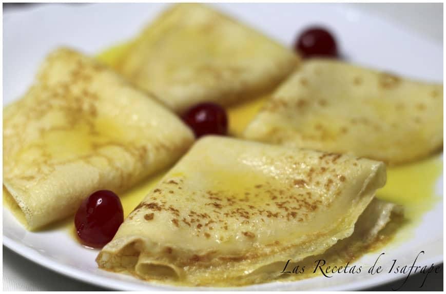 crepes con salsa de naranja recetas de isabel
