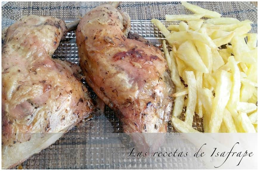 Pollo asado en su jugo, receta casera