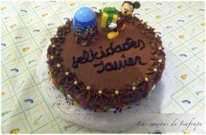 Tarta de cumpleaños de Javier
