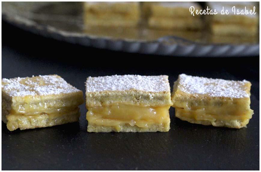 Pasteles de limón, bocaditos de placer