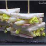 Sándwich de jamón y espárragos para dieta