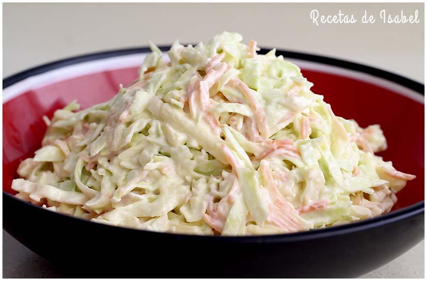 C mo se hace la ensalada de col o coleslaw recetas de isabel for Como se cocina la quinoa para ensalada