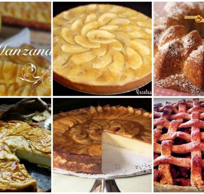 Tartas de manzana y un bundt cake de plátano