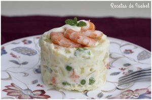 Ensaladilla de langostinos deliciosa y simple