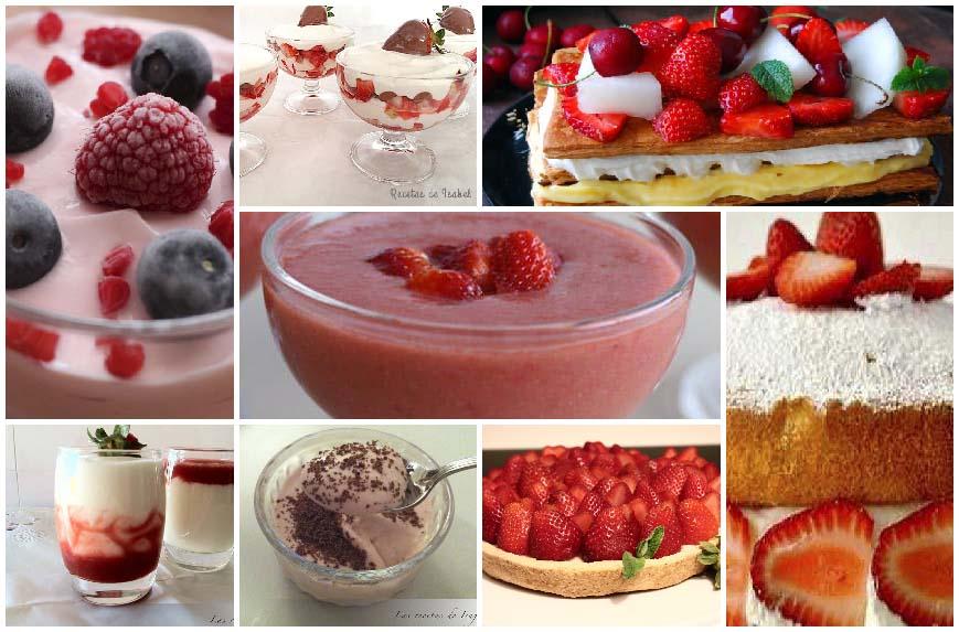 8 recetas con fresas muy fáciles
