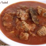 Carne con tomate. Receta típica andaluza