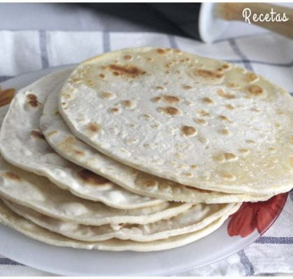 Tortillas mexicanas de trigo para burritos, quesadillas y fajitas