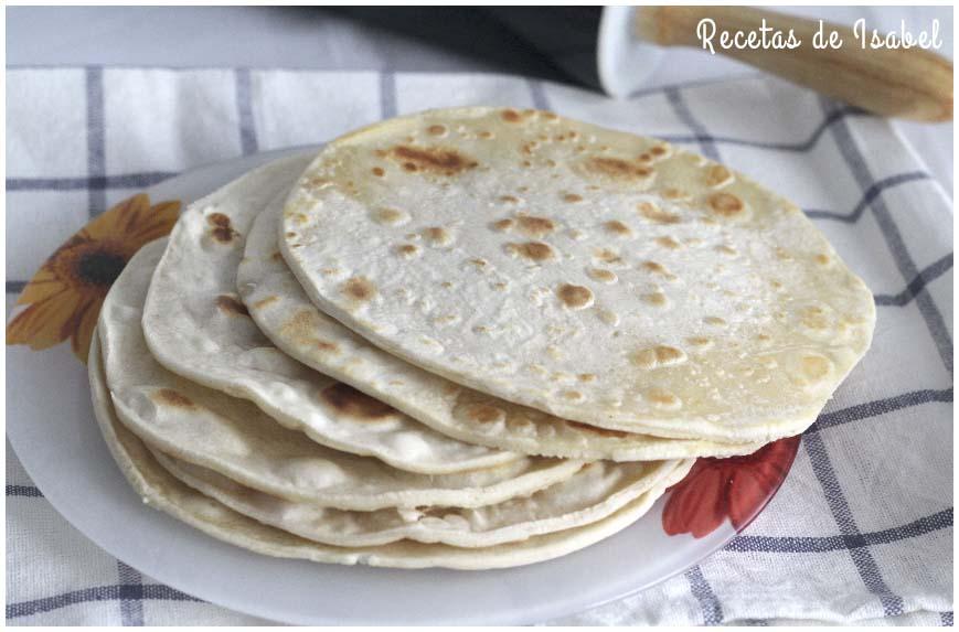 Tortillas mexicanas de trigo para burritos, quesadillas y fajitas
