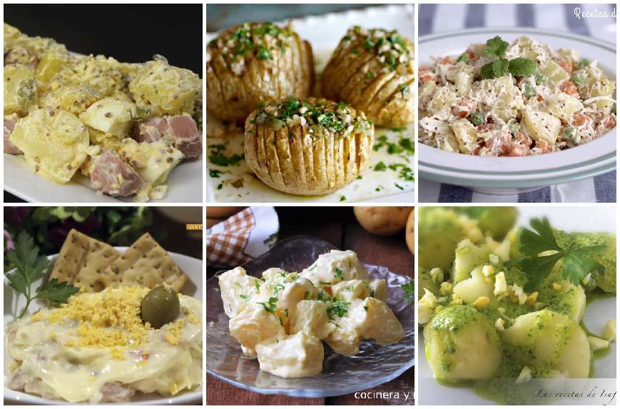 6 recetas de ensaladas de patatas