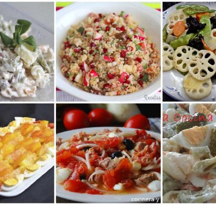 6 recetas de ensaladas sin lechuga