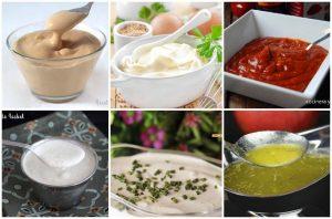 Recetas de salsas para ensaladas, carnes,...