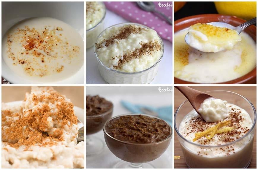 Diferentes recetas de arroz con leche