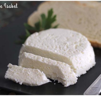 Queso fresco casero con dos ingredientes