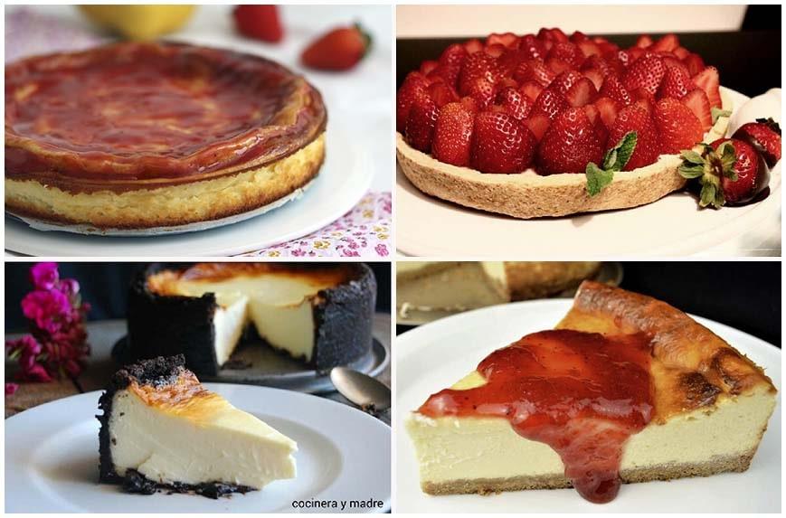 Recetas de tartas de queso variadas