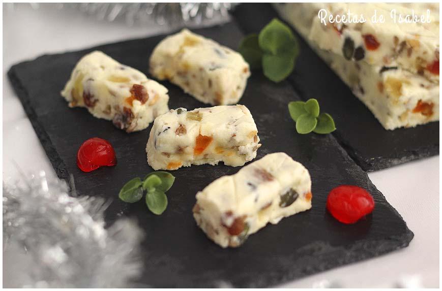 Turrón de queso Camembert con frutos secos