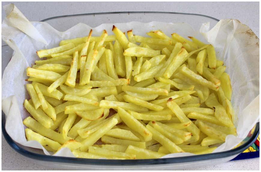 Cómo hacer patatas fritas al horno fáciles