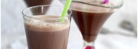 Batido de chocolate con dos ingredientes