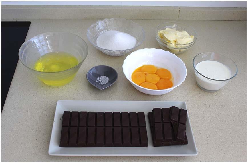 Tarta de chocolate sin harina ni levadura