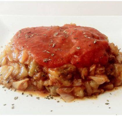Berenjenas con salsa napolitana
