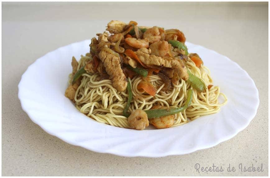 noodles con gambas y pollo contraportada 860 X 573