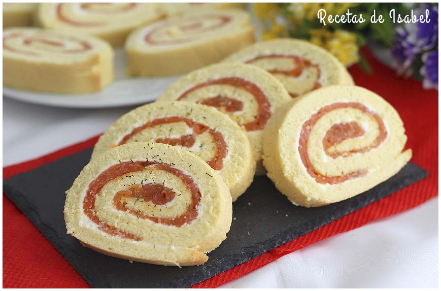 Rollitos de salmón ahumado y queso crema