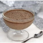 Mousse de turrón de chocolate sin huevo