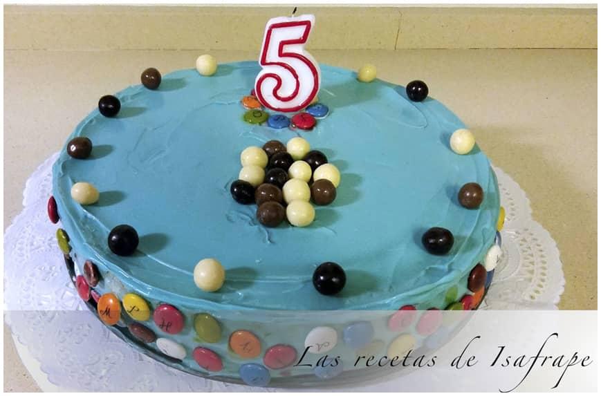 Tarta de cumpleaños sabor fresa y chocolate