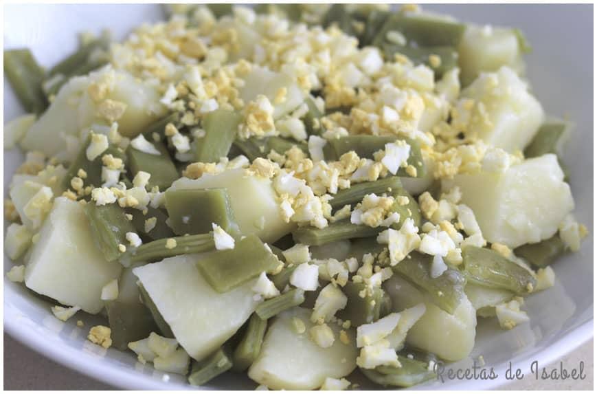 Ensalada de judías verdes y patatas