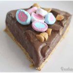 Tarta helada de chocolate con nubes