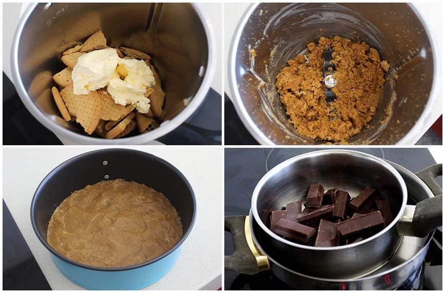 Tarta de queso y chocolate sin horno, fácil y deliciosa