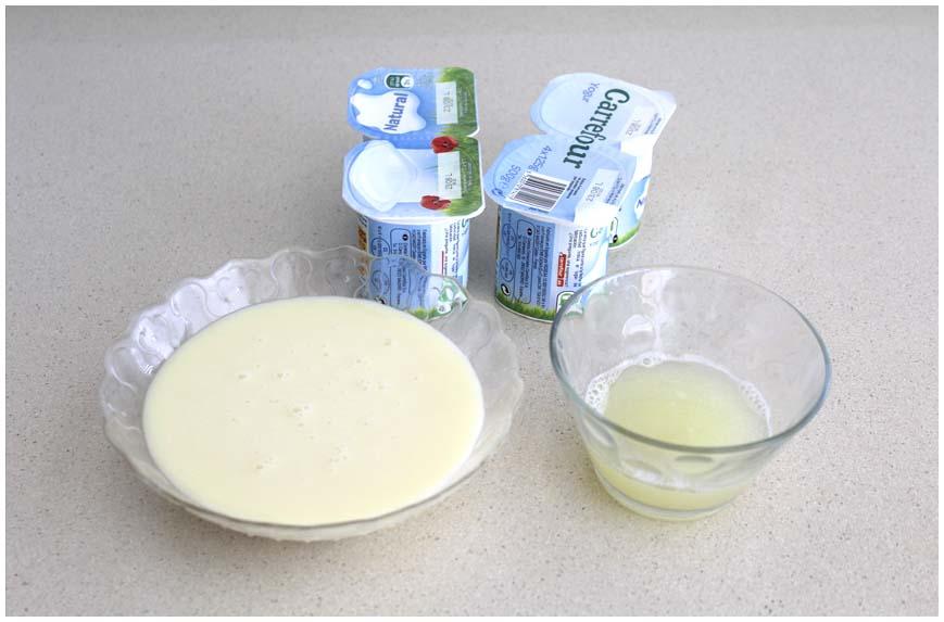 Mousse de limón, postre preparado en segundos