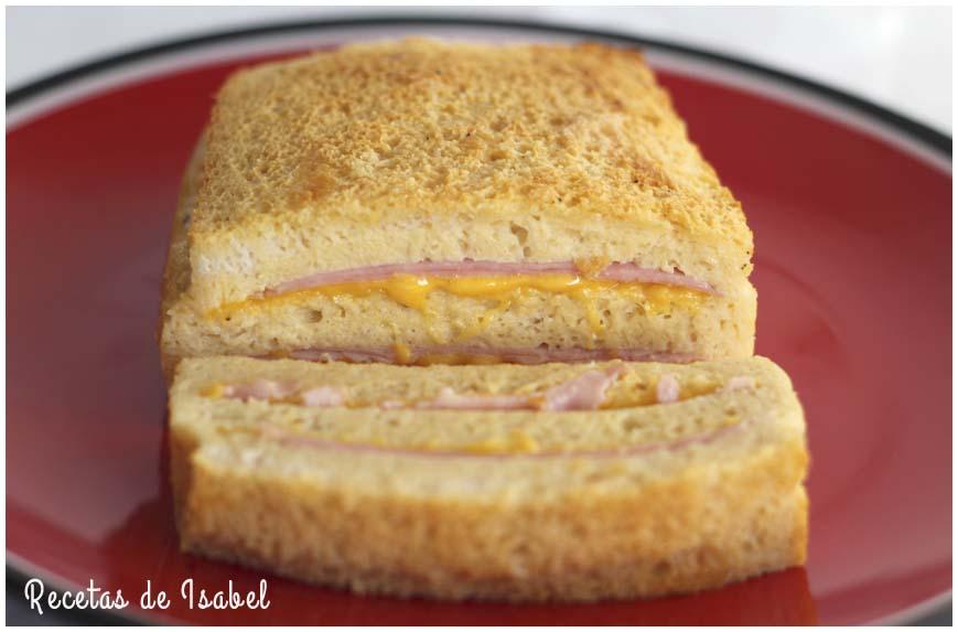 Pastel de queso y jamón york