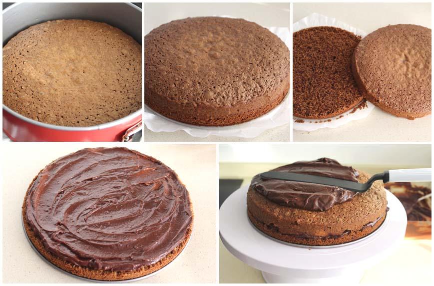 Tarta rápida de chocolate y mermelada