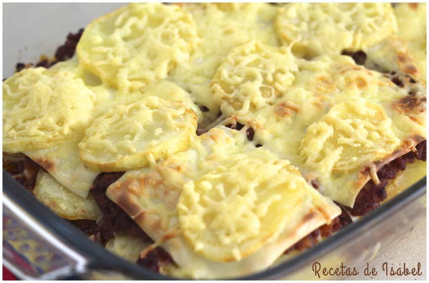 Pastel De Patatas Carne Picada Y Queso Recetas De Isabel
