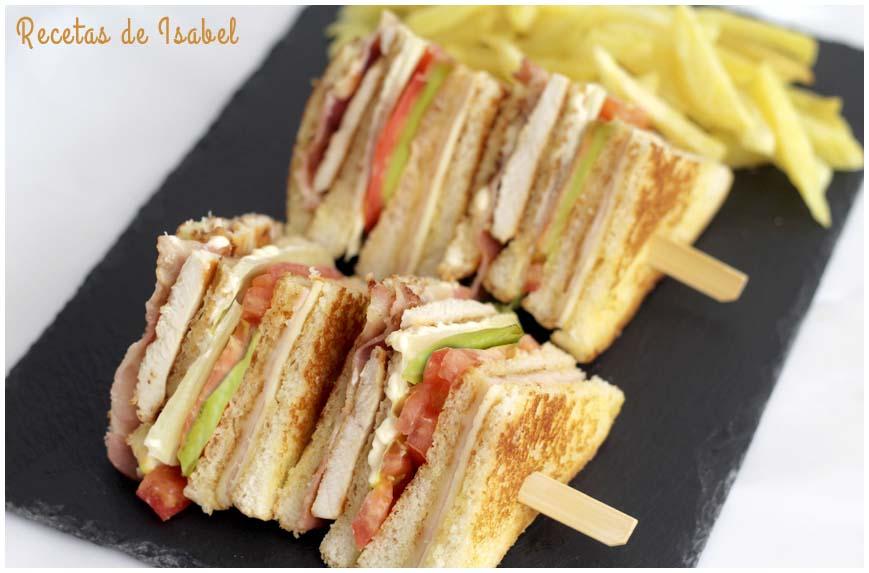 Cómo preparar un sándwich club