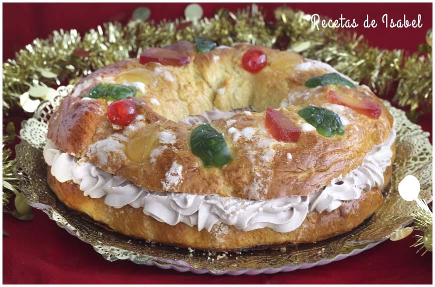 Roscón de Reyes casero relleno de trufa