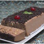 Pastel de chocolate y galletas sin horno