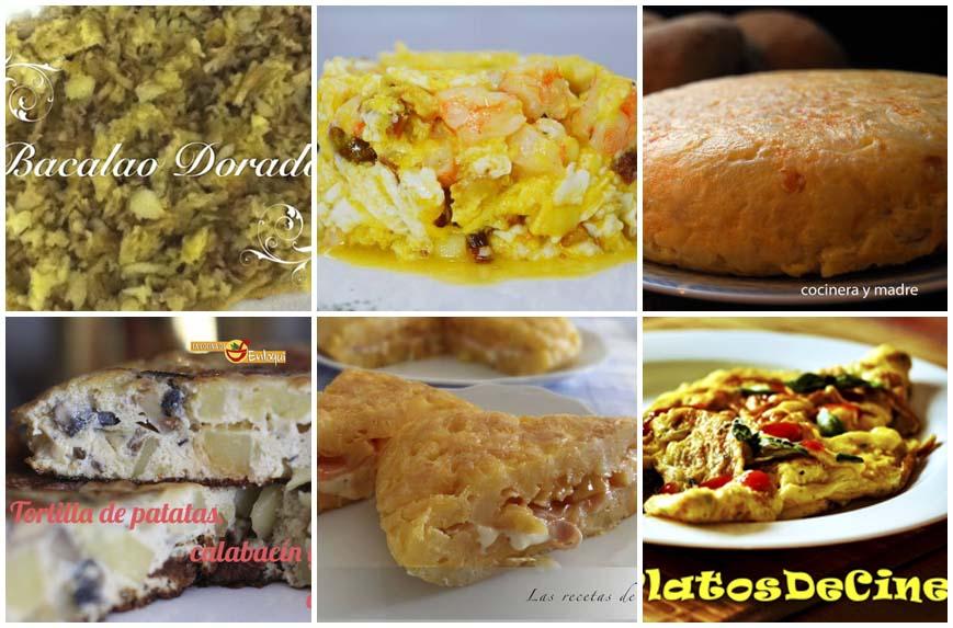Recetas de tortillas y revueltos impresionantes