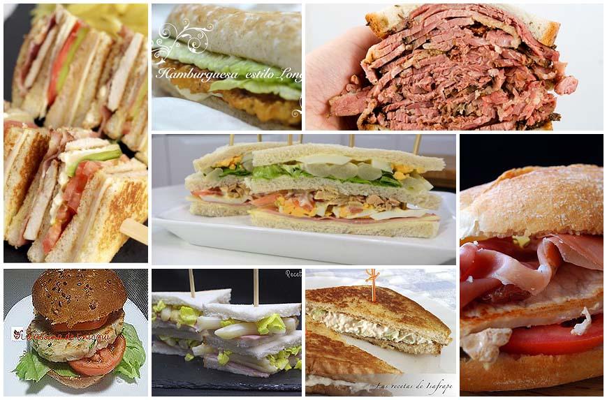 Sándwiches y bocadillos sabrosos