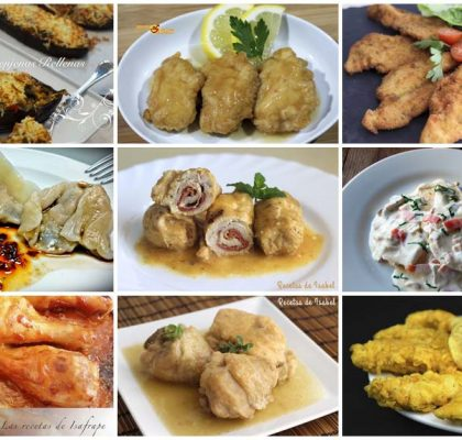 9 recetas con pollo variadas y sabrosas