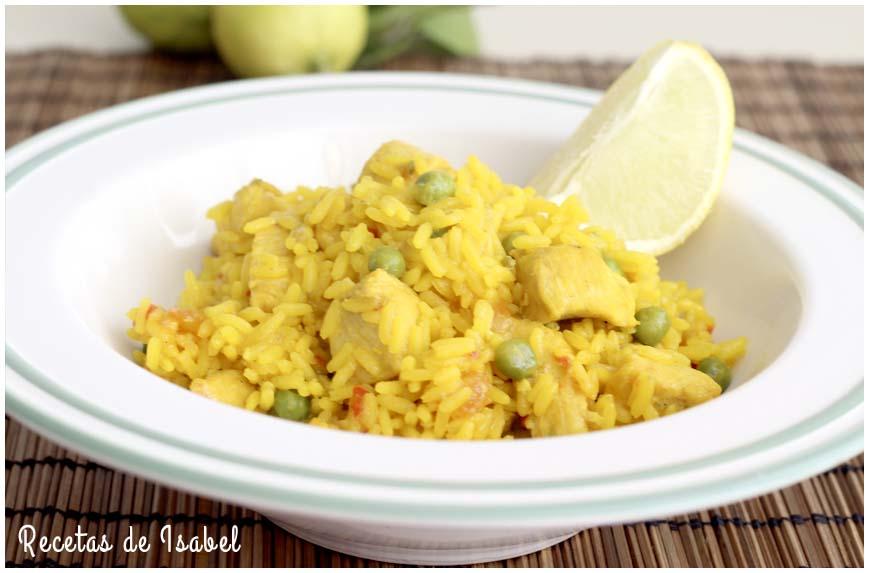 Receta de arroz con pollo rico y sabroso