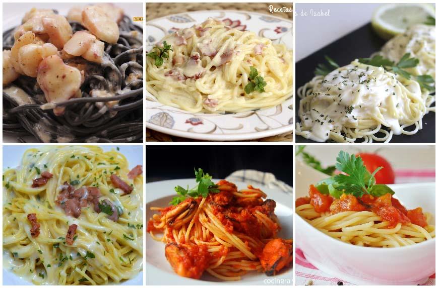 6 recetas de espaguetis para toda la familia