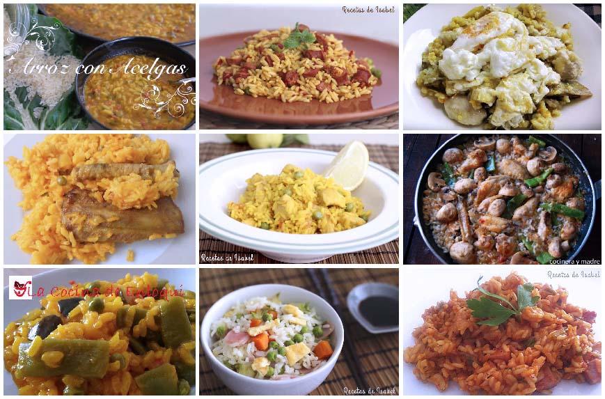 Nueve recetas de arroz para el día a día